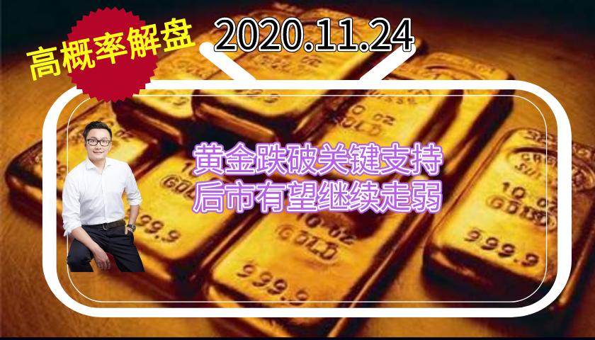 悦华交易学院:黄金价格跌破1850支撑位,切忌过早猜底买入